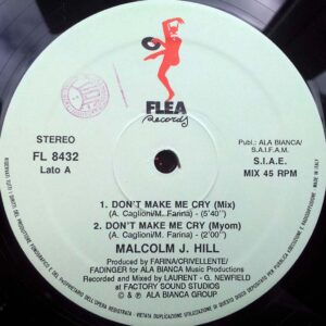 01 malcolm j hill dont make me cry 12 inch vinyl
