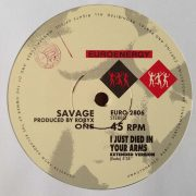 02 savage i just died in your arms 12 inch vinyl