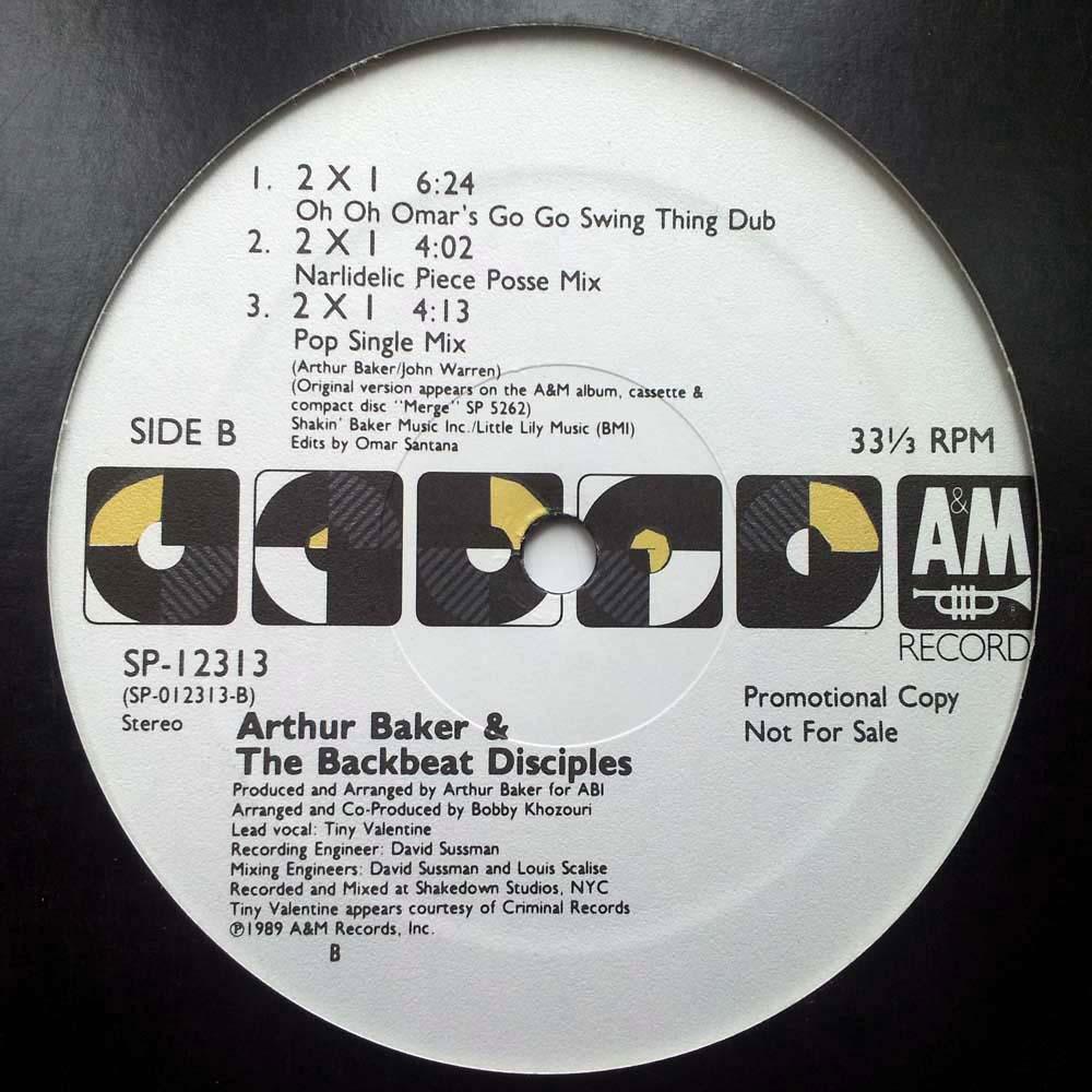 arthur baker the backbeat disciples 2 x 1 12 inch vinyl