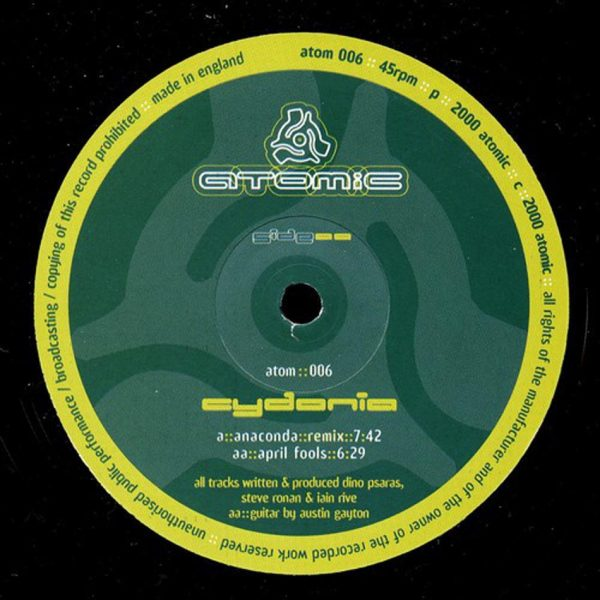 cydonia anaconda remix 12 inch vinyl