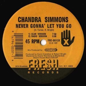 chandra simmons never gonna let you go 12 inch vinyl