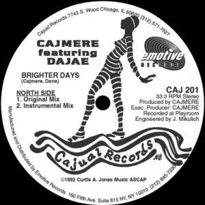 cajmere brighter days 12 inch vinyl
