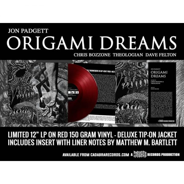 jon padgett theologian chris bozzone origami dreams vinyl lp cadabra