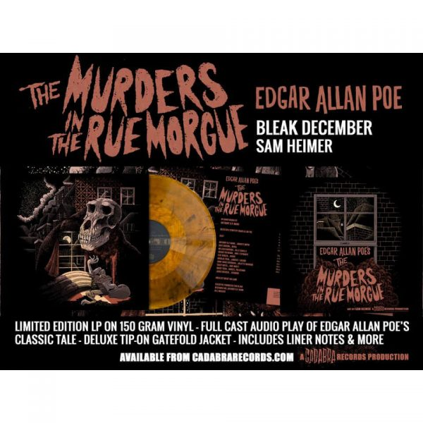 edgar allan poe murders in the rue morgue vinyl lp cadabra